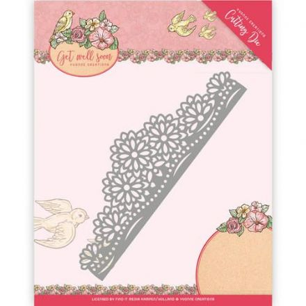 YCD10102 ~ Get Well Soon ~ Flower Border ~ Yvonne Creations